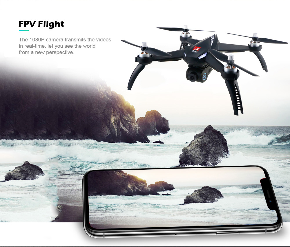 New Mjx Bugs 5 W B5w Gps Rc Drone With Camera 1080p Brushless Motor 5g Wifi Fpv Automatic Adjustment Waypoints Rc Quadcopter