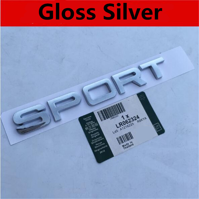 100pcs New Car Styling Good Quality Black Silver SPORT HSE SPORTHSE Rear Boot Gloss Matt Silver