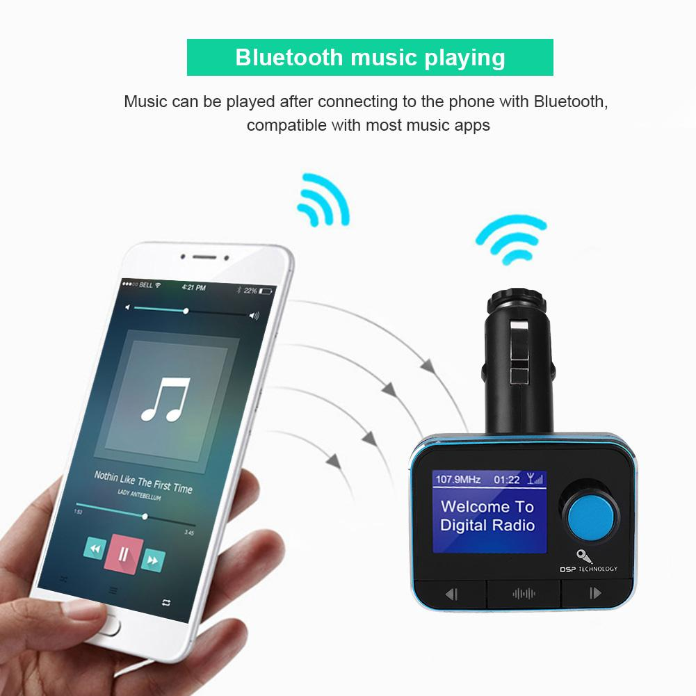 Car DAB Radio DAB+ Receiver Portable Mini FM Radio Transmitter Car Bluetooth Player Support U Disk TF Card Radios Kit
