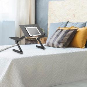 Image 4 - Przenośny regulowany składany stół do laptopa biurko komputer Notebook stojak taca z podkładką pod mysz ze stopu aluminium iPad biurko