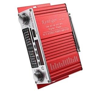 Image 5 - Kentiger Hy 602 Mini Portatile Hifi Stereo Amplificatore di Potenza Digitale con Fm di Controllo Ir Fm Mp3 di Riproduzione Usb con Quattro Dsp