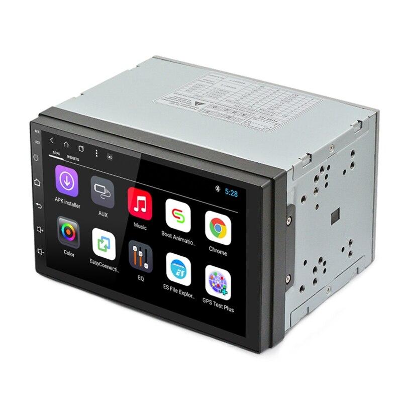 Android 8,1 автомобильный радиоприемник стерео 7 дюймовый емкостный нажатие на экран Hd 1024X600 gps навигация Bluetooth USB, sd проигрыватель 2G Ddr3 + 16G N