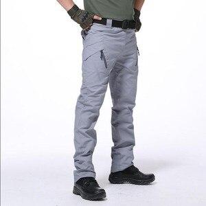 Image 3 - Multi Pocket Urban ยุทธวิธีทหารกางเกงชายกลางแจ้งปีนเขาการฝึกอบรมสวมใส่ Slim ตรงแฟนกองทัพ Cargo กางเกง