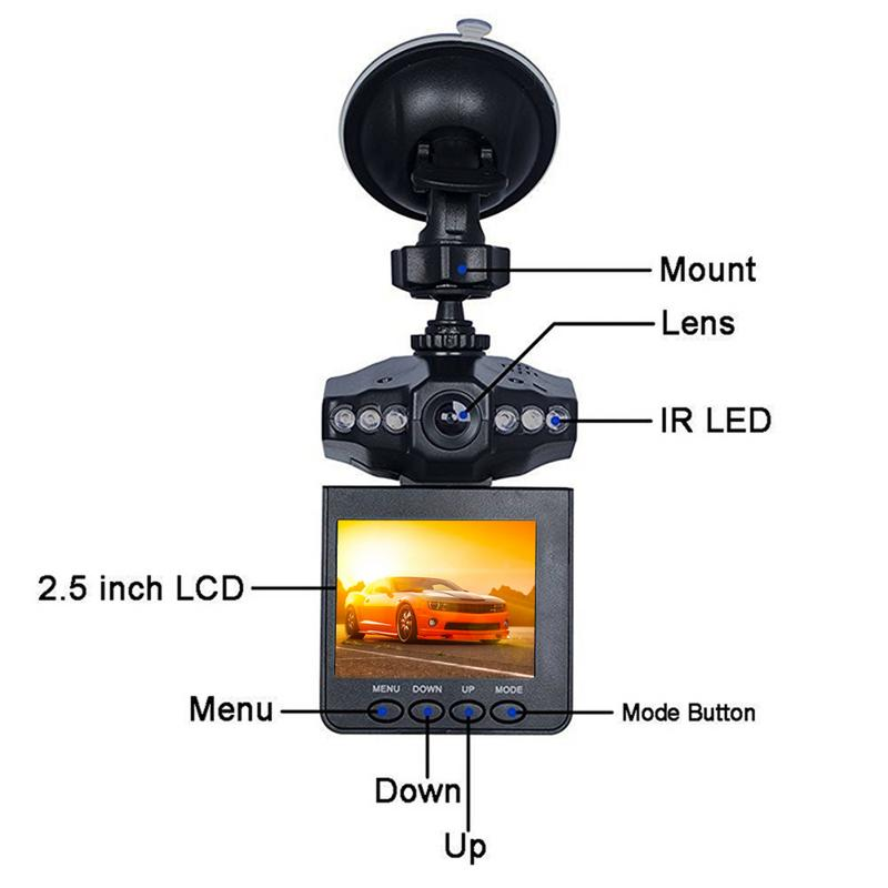 2019 Original Mini Auto DVR Kamera 2,4 Inch Dash Cam Auto Kamera DVR 270 Grad Whirl Dash Cam LED Dash video Recorder