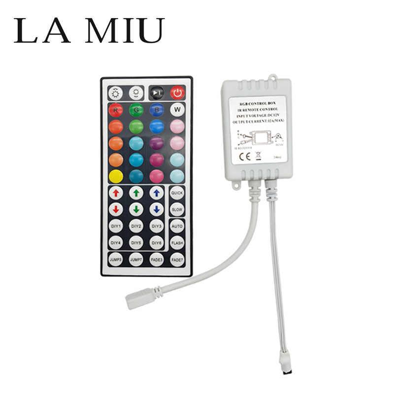 Светодиодный RGB пульт дистанционного Диммер Мини ИК/ИК USB 24/44 кнопочный пульт DC 5 V/12 V/24 V для 5050 3528 2835 Светодиодные ленты огни