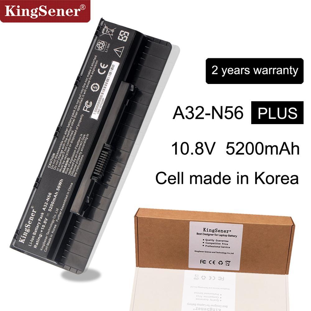 10,8 V 5200 mAh Corea celular nuevo A32-N56 batería para ASUS N46 N46V N46VJ N46VM N46VZ N56 N56V N56VJ N56VM n76 N76VZ A31-N56 A33-N56