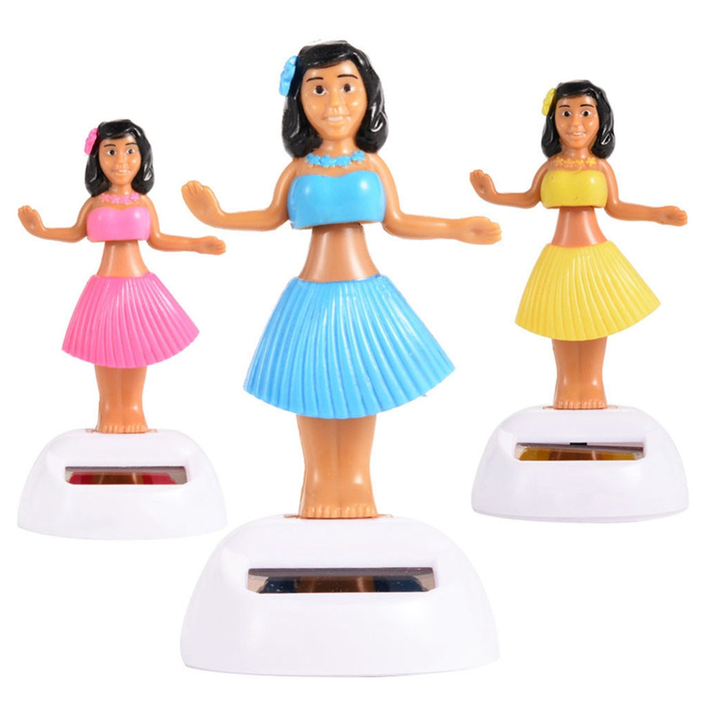 Solar Powered Dancing Hula Girls Swinging Bobble Car Decor Toys For Xmas Gifts Automobiles & Motorcycles Interior Accessories