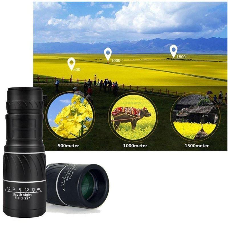 Telescope Zoom Monocular Lens Spotting Travel Outdoor 16x52 for Dual-Focus
