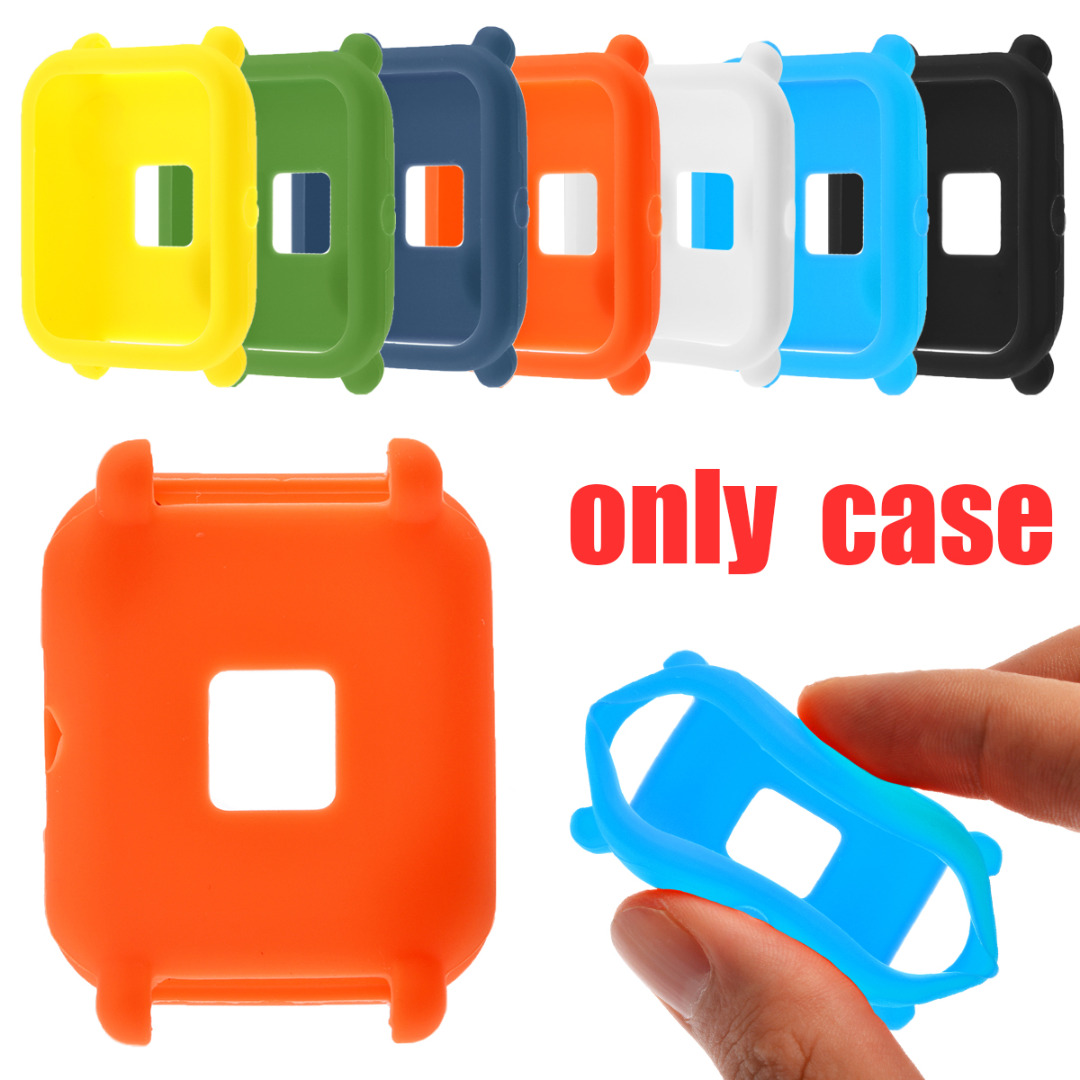 Soft TPU Silicone Protective Case Cover For Huami Amazfit Bip Youth Watch SmartWatch Watachband Sporting Goods Accessories