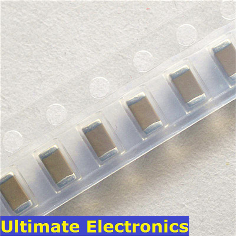 100Pcs/Lot 1206 <font><b>SMD</b></font> Chip Multilayer Ceramic Capacitor 10pF~22uF 22pF 47pF 100pF 470pF 1nF 10nF <font><b>100nF</b></font> 220nF 1uF 2.2uF 4.7uF 10uF image