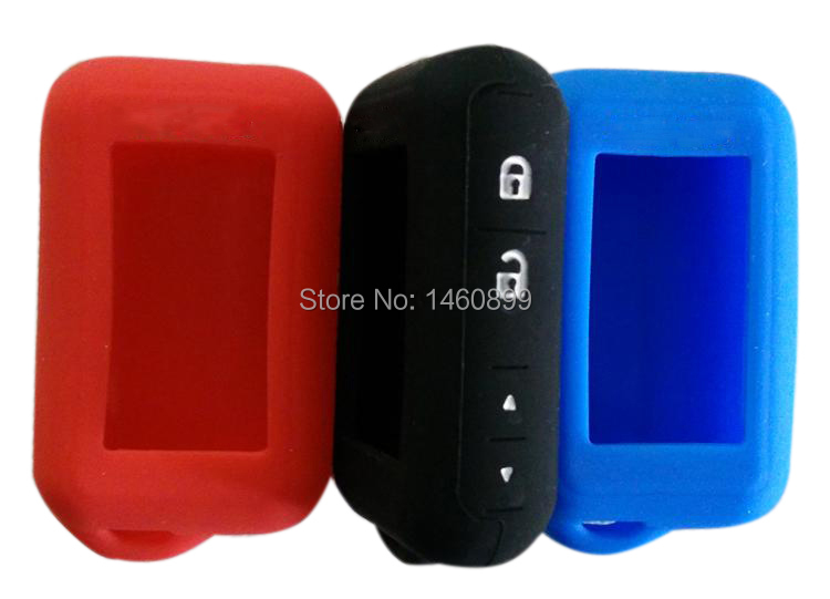 Vairumtirdzniecības silikona korpuss 2 virzienu automašīnas trauksmes sistēmai Keychain Starline E60 E61 E62 E90 E91 LCD tālvadības pults Key Chain Fob