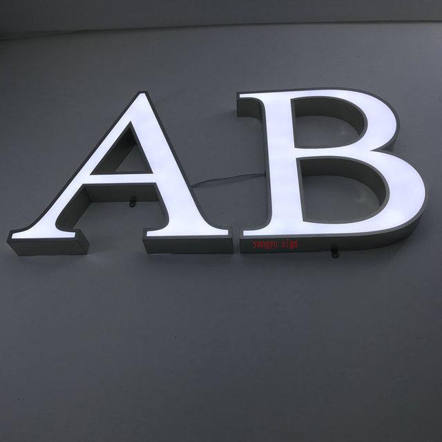 Lettres lumineuses extérieures dacier inoxydable de lettres de canal 3D illuminées par affaires