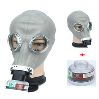 2 em 1 pintura pulverização militar soviético russo máscara de gás químico rosto cheio indústria respirador|null| |  -