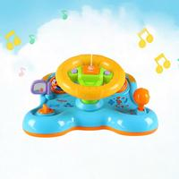 Baby Toy Driving Steering Wheel & Equipped With Lights, Mirror, Music,Driving Sounds Toys Children's Early Education Toy