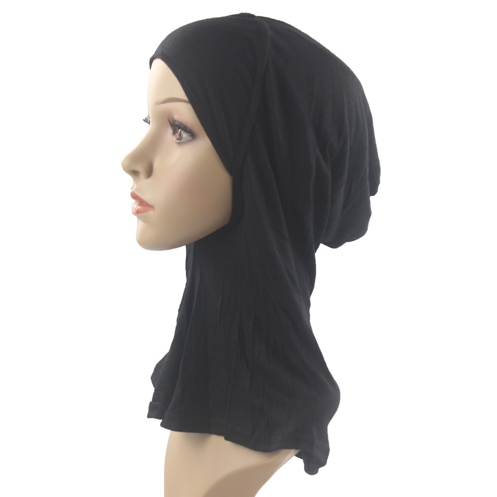 Muslim Underscarf Cap Neck Cover Inner Hijab Hats Islamic Hejab Headwrap Cotton Soft And Stretch For Women/Girls