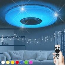 Luminaria okrągła lampa dziecięca lampara techo oświetlenie salonu muzyka sypialnia dzieci led lampa sufitowa głośnik bluetooth nowość