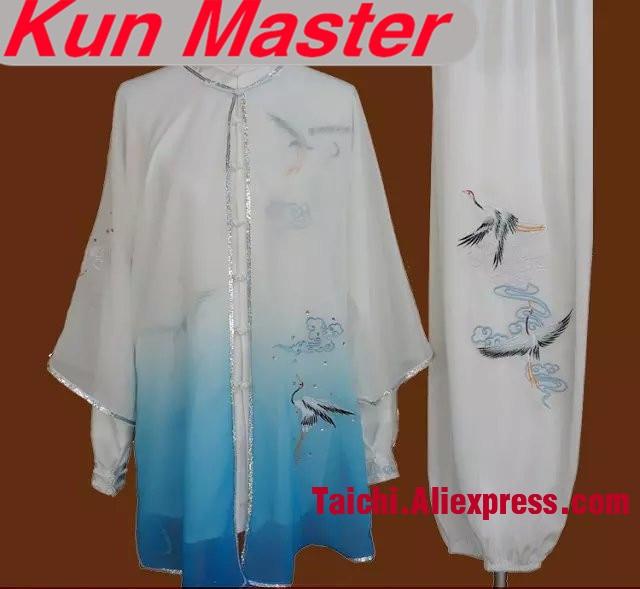 Custom Tai Chi Performance Uniform Crane Embroidery Unisex Martial Art Clothing For Kung Fu Three Pieces