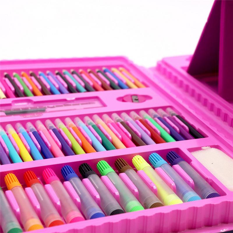 208 pièces enfants peinture ensemble peinture à l'huile bâtons dessin brosses élémentaire eau couleur stylos esquisse Crayons cadeaux - 2