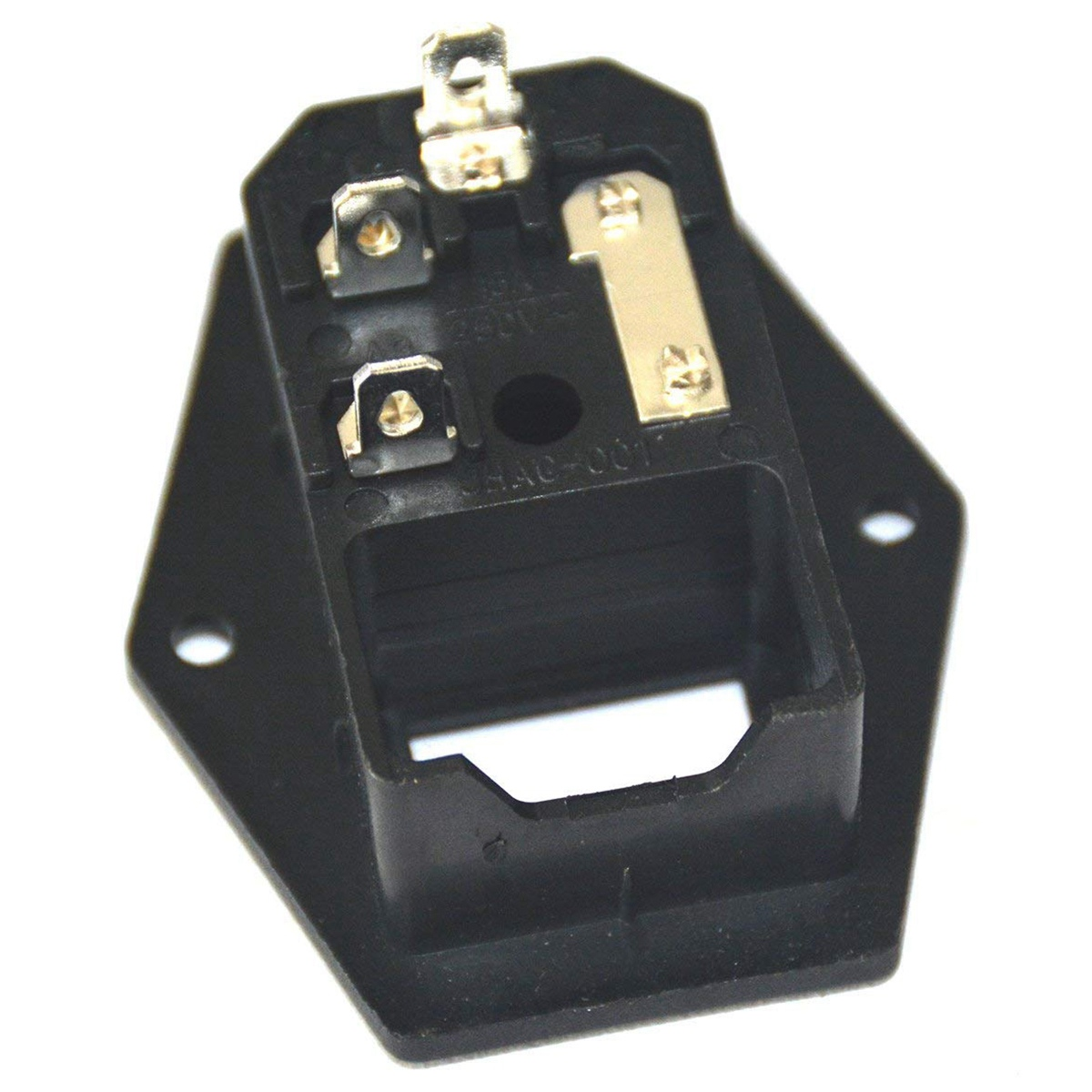 Image 4 - Inlet Male Power Socket With Fuse Rocker Switch, Fuse 3 Pin Iec320 250V 15A C14 Inlet Module For Computer And Home Appliance P-in Electrical Sockets from Home Improvement