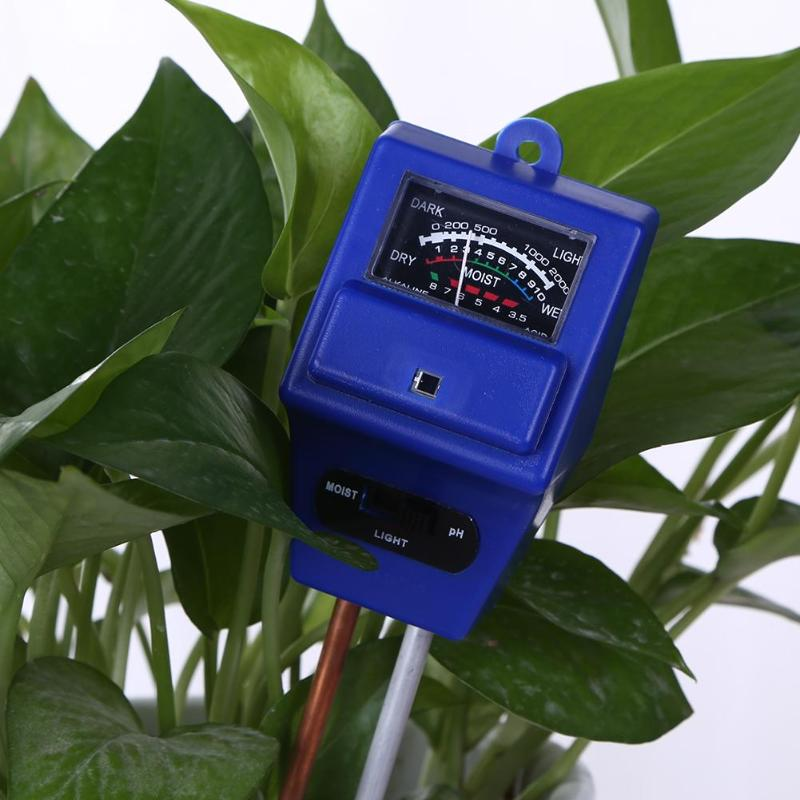3 in 1 Soil PH Meter Flower Pot Hygrometer Soil Tester Plants Growth Moisture Light Intensity Meter Instrument Garden Tools3 in 1 Soil PH Meter Flower Pot Hygrometer Soil Tester Plants Growth Moisture Light Intensity Meter Instrument Garden Tools