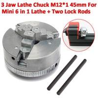 3 Jaw Chuck Mini Lathe Chuck M12*1 45mm For Mini 6 in 1 Lathe Two Lock Rods chuck jaw