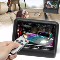 DC 12V 5W 9 Inch Car Headrest Backseat Monitor DVD Video Player Display LCD Screen Mount PAL/NTSC Image Format 2 Way Video Input