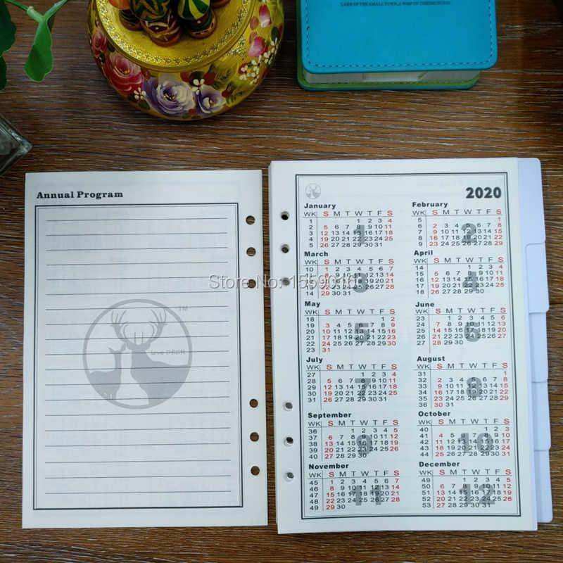 photograph regarding A5 Planner Binder identify Superior Useful resource A5 planner English Edition Filler Paper for 6 ring binder laptop 2019-2021 calendar white divider