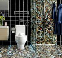 Self New Waterproof Wear Resistance 2019 Adhesive Wallpaper Cobblestone Wall Sticker Bathroom Thicken Toliet Ground Sticker