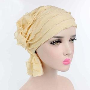 Image 5 - Muslim Cap Women Hat Hijab Ruffle Ladies Cancer Turban Chemo Cap Abaya Beanie Scarf Cap Head Wrap Hat Inner Cap Bonnet Fashion