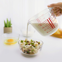 500 мл 1000 мл, мерный стакан, термостойкая чашка из закаленного стекла, кухонная посуда для выпечки, мерный стакан для молока с прозрачной шкалой