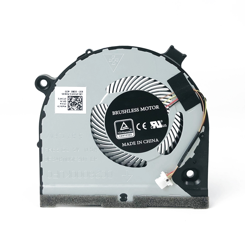 New Original Laptop CPU Cooling Fan for Dell inspiron Game G3 G3-3579 3779 <font><b>G5</b></font> <font><b>5587</b></font> Notebook Cooler 0TJHF2 DFS481105F20T FKB6 image