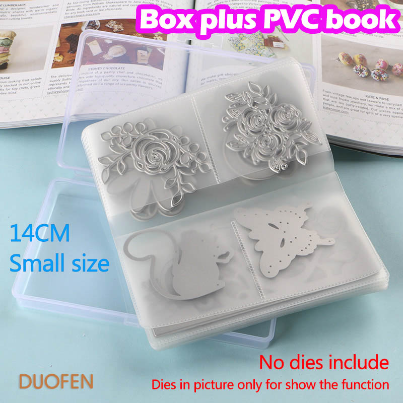 DUOFEN CUTTING DIES 14CM-18CM Cutting dies storage book BOX PLUS PVC book easy for handling & protecting your cutting dies