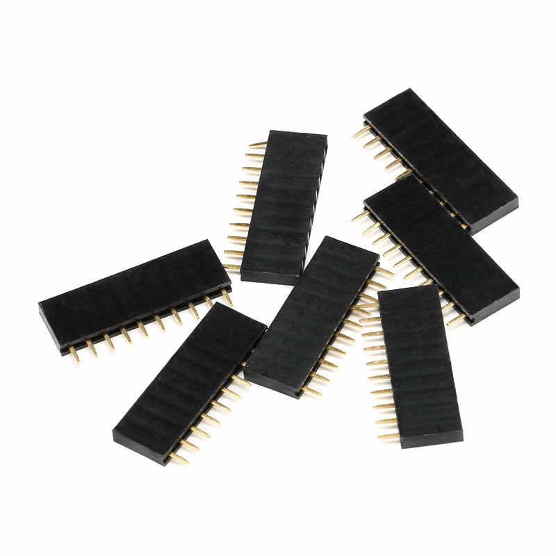10 chiếc 2.54mm Stright Nữ Hàng Đơn Pin Đầu Dây PCB Cổng Kết Nối 1*2/3/4 /5/6/7/8/10/12/16/20/40 Pin