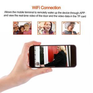 Image 5 - 4.3in Smart WiFi Doorbell Cat Eye Camera IR Night Vision Motion Detection Alarm Unique Detachable Battery Design deurbel
