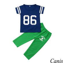 3781ca62dd345 2019 recién nacido chico ropa de bebé niño 86 impresión Tops pantalones de  uniforme de béisbol trajes de verano