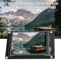 3.2 Inch Tft Lcd Display + Tft/Sd Shield For Arduino Mega 2560 Lcd Module S P6H2
