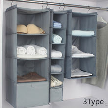 Home Storage Hanging Organizers Wardrobe Organizer Bag Closet Shelf Cloth Hanger Rack Container