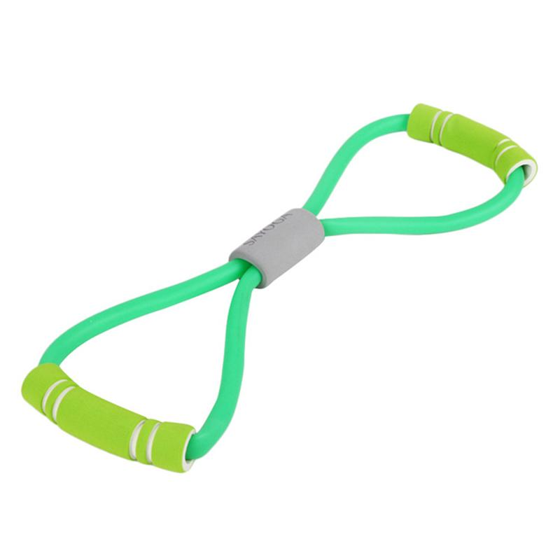 Flat Latex Elastic Resistance Band For Resistance Training Pilates And Physical Therapy (Green)