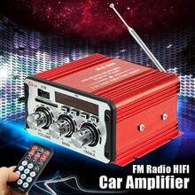 2 Channel Hi-Fi 12V Mini Auto Car Power Amplifier Stereo Audio Amplifier Support