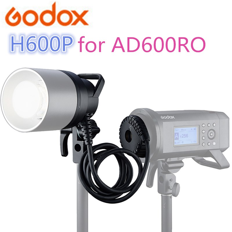 In Stock <font><b>Godox</b></font> H600P Flash Head Bowens Mount Off-flash Handheld Extension Head for <font><b>Godox</b></font> WITSTRO AD600Pro <font><b>AD600</b></font> <font><b>Pro</b></font> Flash Strobe image