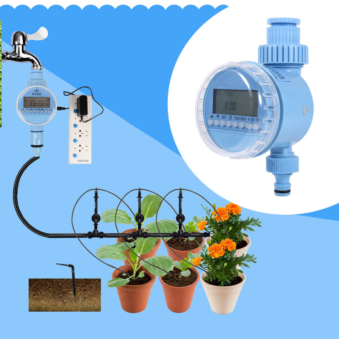 New AC Power Automatic Water Timer Garden Hose Sprinkler Irrigation Controller|Garden Water Timers| |  - title=