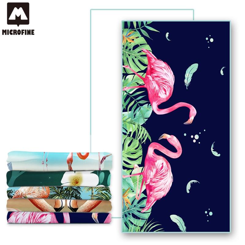 Brisača za plažo Flamingo Luksuzna blagovna znamka iz mikrovlaken, - Domači tekstil