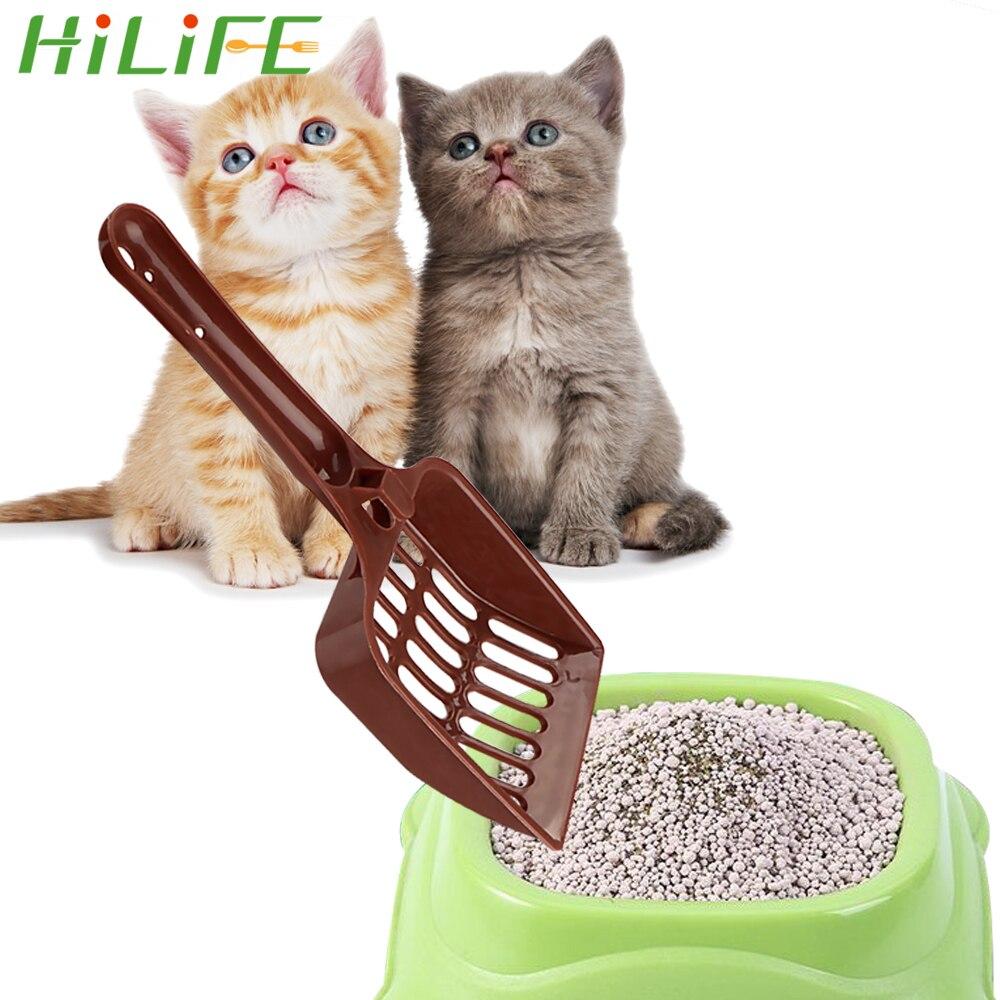 HILIFE Cat Litter Shovel Random Color Pet Cleanning Tool Plastic Scoop Dog Food Spoons