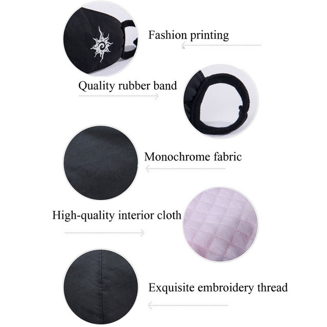 Cotton Luminous Masks Face Masks Air Pollution Black Anime Anti Dust Masks Windproof Proof Flu Face Mask Facial Mask Fashion 5
