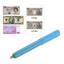 5 шт. многофункциональная УФ-световая ручка-индикатор для денег, мини-тестер для банкнот, ручка для доллара США, евро, фунт, иена, Корейская Вона