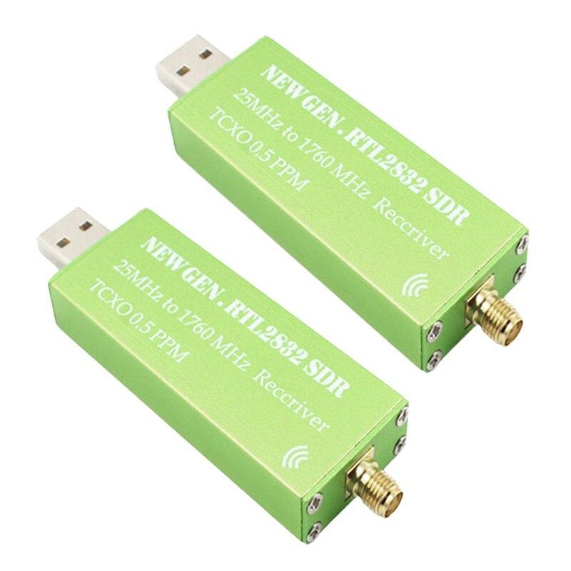 Adaptateur USB RTL-SDR RTL2832U + R820T2 + 1Ppm TCXO TV Tuner Stick récepteur 2