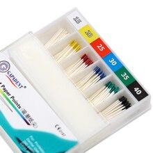 ماصة ورقة نقاط 15 40 # جذر الأسنان إلغاء الملفات Endodontics ألياف القطن نصائح طبيب الأسنان مواد المنتج