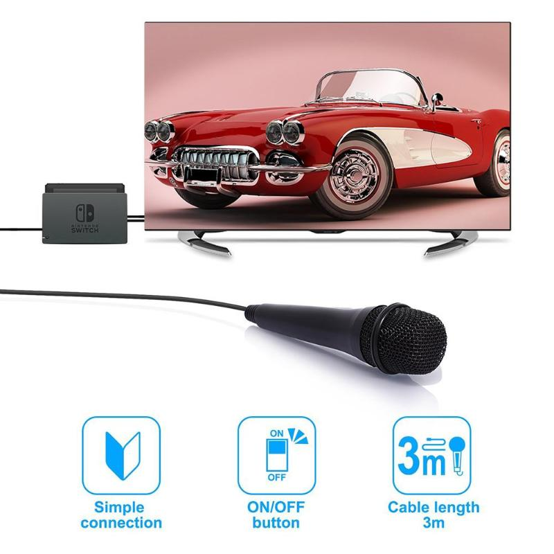 USB Wired 3m 9 8ft Microphone High Performance MIC for Switch PS4 Wii U PC in Microphones from Consumer Electronics