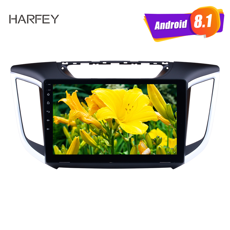 Harfey 10.1 pouces HD écran tactile pour 2014 2015 Hyundai IX25 Android 8.1 autoradio GPS Navi USB Bluetooth WIFI OBD2 caméra de sauvegarde