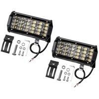 Light Bar 7 Inch 240W 24000Lm Led Off Road Lights Pods Spot Beam Fog Driving Work Light For Truck 4X4 Atv Atv Suv Boat Jeep Tr